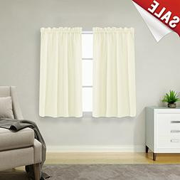 Waffle-Weave Tier Curtains for Kitchen Water Repellent Bathr