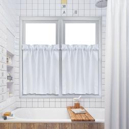 Waffle Kitchen Tier Curtains Short Length Water Repellent Ro