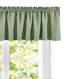 Waffle-Weave Textured Valance for Kitchen Water-Proof Window