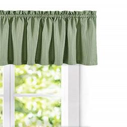 jinchan Waffle-Weave Textured Valance for Kitchen Water-Proo
