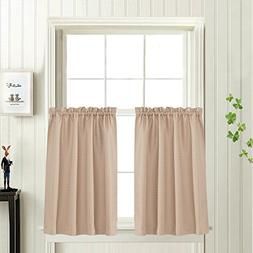 Waffle Woven Cafe Curtains Waterproof Kitchen Window Curtain