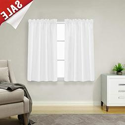 Waffle Woven Textured Short Curtains for Kitchen Water Repel