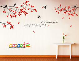 Wall Decor Decal Sticker Removable tree branche birds small