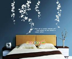 Wall Decor Decal Sticker Removable vinyl leaves flower