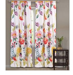 Watercolor Dream 84-Inch Curtain Panel Pair