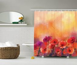 Ambesonne Watercolor Flower Decor Collection, Flower Season