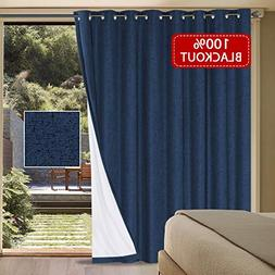 H.VERSAILTEX Waterproof Rich Linen Patio Curtain 100% Blacko
