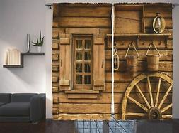 Ambesonne Western Decor Collection, Ancient Wagon Wheel Rust