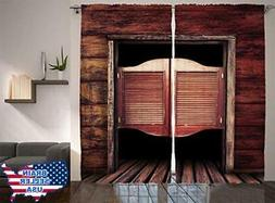 Ambesonne Western Decor Collection, Old Vintage Rustic Woode
