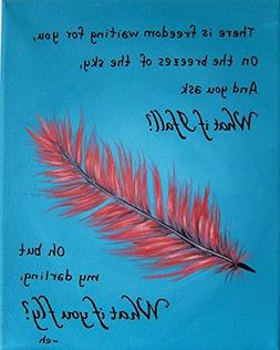 What if I Fall Oh but My Darling What if You Fly 9x12 Print