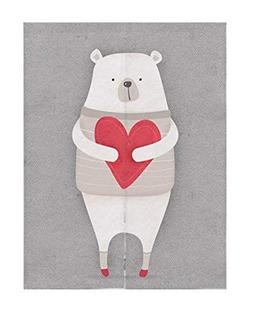 MEMORECOOL LIGHT UP YOUR HOME White Bear Print Japanese Nore