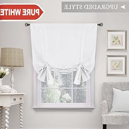 H.VERSAILTEX Pure White Curtain Thermal Insulated Tie Up Win