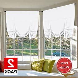 H.VERSAILTEX Pure White Curtains Home Decoration Easy Care T