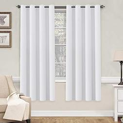 H.VERSAILTEX White Curtains 72 inches Long for Living Room T