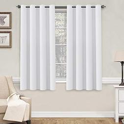 H.VERSAILTEX Pure White Curtains 63 inch Length Window Treat