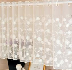 White Lace Windows Door Curtain Kitchen Curtains Valances Se