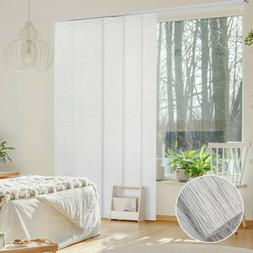 White Pleated Patio Door Sliding Panel Curtain Panel Track B