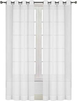 Premium White Sheer Curtains Sheer Voile White Luxurious Hig