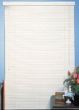 "New 6 Pack of White Vinyl 1"" Mini Blinds - 26"" Wide x 64"" Lo"