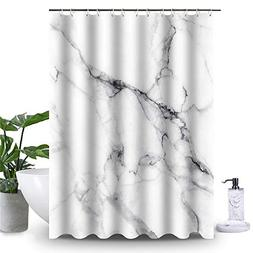 Uphome Wild Symbol Marble Pattern Bathroom Shower Curtain -