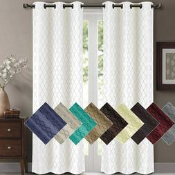 Willow Jacquard Blackout Thermal Insulated Window Curtain Pa