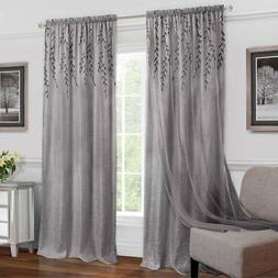 Achim Willow Rod Pocket Window Curtain Panel