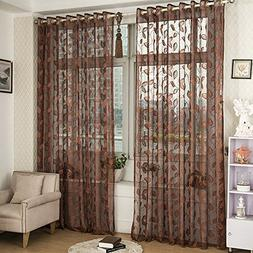 Norbi Willow Voile Tulle Room Window Curtain Sheer Voile Pan