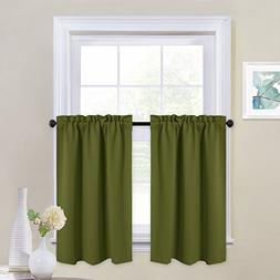 NICETOWN Window Blackout Curtains - Rod Pocket Tailored Tier
