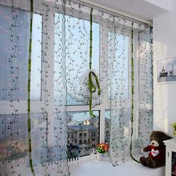 Window Drapes Kitchen Bathroom Lift Roll Up Rome Curtain Cou