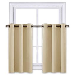 NICETOWN Small Window Room Darkening Valances - Functional T