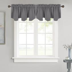 Window Scalloped Valance for Kitchen 52In by18In Rod Pocket