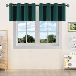 YGO Window Treatment Room Darkening Valance - Solid Grommet