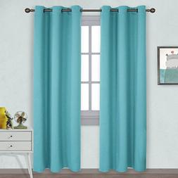 NICETOWN Window Treatment Thermal Insulated Solid Grommet Bl