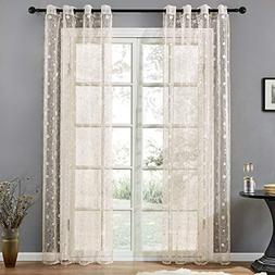 Top Finel Wide Voile Sheer Embroidered Polka Dot Curtains Gr