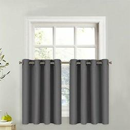 Blackout Window Valance for Kitchen - Thermal Insulated Blac