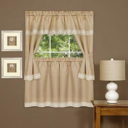 Brookdale Kitchen Curtain Cottage Set