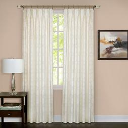 "WINDSOR PINCH PLEAT IVORY  84""  CURTAIN PANEL SET    NEW"