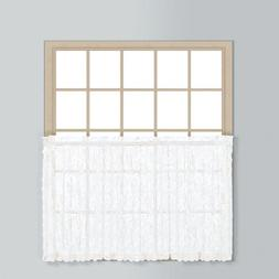 Windsor Tier Curtain, 36 H x 56 W x 0.2 D, White