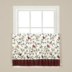SKL Home Winter Birds Tier Curtain Pair, Multicolored, 57 in