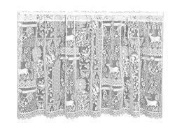 Heritage Lace Woodland Patch Tier, 60 by 30-Inch, White