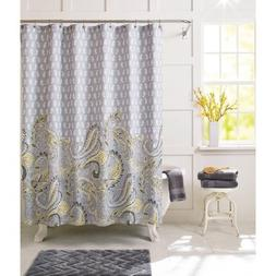 Better Homes and Gardens Yellow Paisley Fabric Shower Curtai
