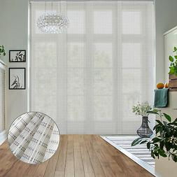 Zen Woven Sliding Panel Track Shade Patio Door Sliding Panel